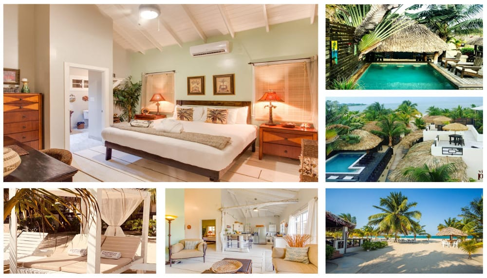 Caribbean Beach Cabanas Collage