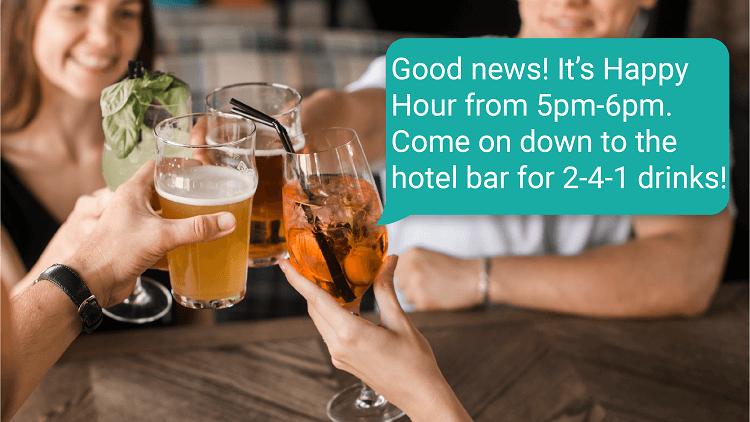 GuestTalk Happy Hour Notification